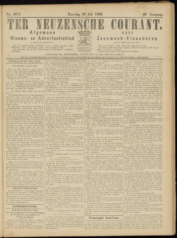 Ter Neuzensche Courant. Algemeen Nieuws- en Advertentieblad voor Zeeuwsch-Vlaanderen / Neuzensche Courant ... (idem) / (Algemeen) nieuws en advertentieblad voor Zeeuwsch-Vlaanderen 1906-07-28