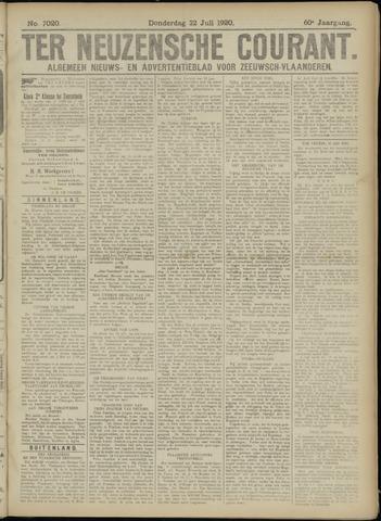 Ter Neuzensche Courant. Algemeen Nieuws- en Advertentieblad voor Zeeuwsch-Vlaanderen / Neuzensche Courant ... (idem) / (Algemeen) nieuws en advertentieblad voor Zeeuwsch-Vlaanderen 1920-07-22