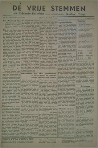 Vrije Stemmen van Schouwen-Duiveland, tevens mededeelingenblad Militair Gezag 1945-08-14