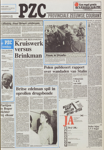 Provinciale Zeeuwse Courant 1988-07-27