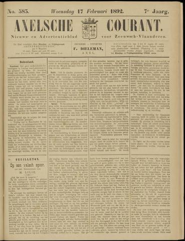 Axelsche Courant 1892-02-17