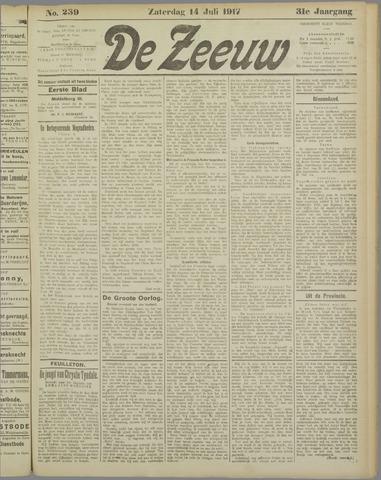 De Zeeuw. Christelijk-historisch nieuwsblad voor Zeeland 1917-07-14