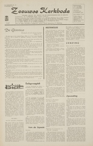 Zeeuwsche kerkbode, weekblad gewijd aan de belangen der gereformeerde kerken/ Zeeuwsch kerkblad 1968-01-25