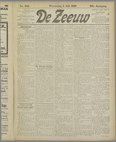 De Zeeuw. Christelijk-historisch nieuwsblad voor Zeeland 1916-07-05