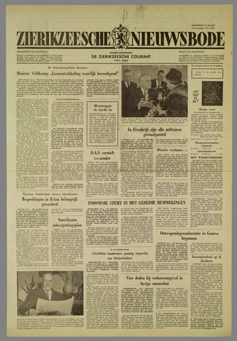 Zierikzeesche Nieuwsbode 1962-03-15