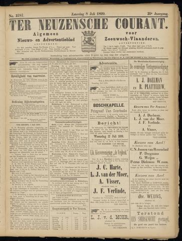 Ter Neuzensche Courant. Algemeen Nieuws- en Advertentieblad voor Zeeuwsch-Vlaanderen / Neuzensche Courant ... (idem) / (Algemeen) nieuws en advertentieblad voor Zeeuwsch-Vlaanderen 1899-07-08