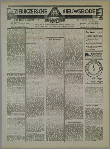 Zierikzeesche Nieuwsbode 1940-01-03