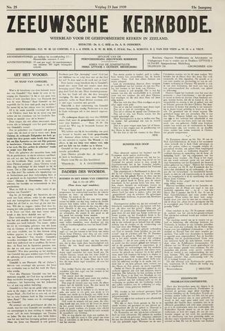Zeeuwsche kerkbode, weekblad gewijd aan de belangen der gereformeerde kerken/ Zeeuwsch kerkblad 1939-06-23