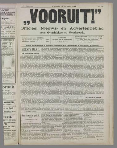 """""""Vooruit!""""Officieel Nieuws- en Advertentieblad voor Overflakkee en Goedereede 1911-11-15"""