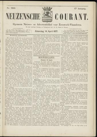 Ter Neuzensche Courant. Algemeen Nieuws- en Advertentieblad voor Zeeuwsch-Vlaanderen / Neuzensche Courant ... (idem) / (Algemeen) nieuws en advertentieblad voor Zeeuwsch-Vlaanderen 1877-04-14