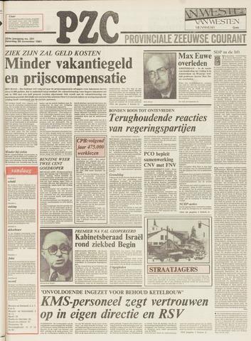 Provinciale Zeeuwse Courant 1981-11-28