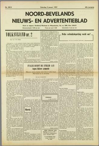 Noord-Bevelands Nieuws- en advertentieblad 1957-01-05