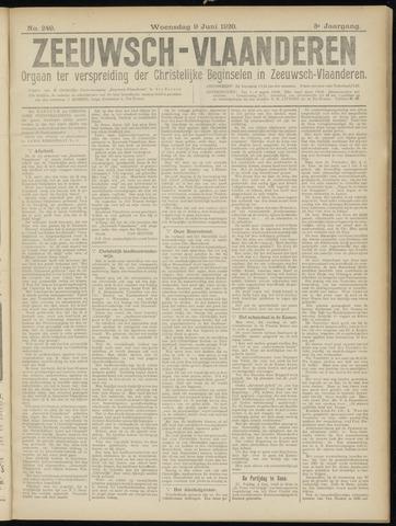 Luctor et Emergo. Antirevolutionair nieuws- en advertentieblad voor Zeeland / Zeeuwsch-Vlaanderen. Orgaan ter verspreiding van de christelijke beginselen in Zeeuwsch-Vlaanderen 1920-06-09
