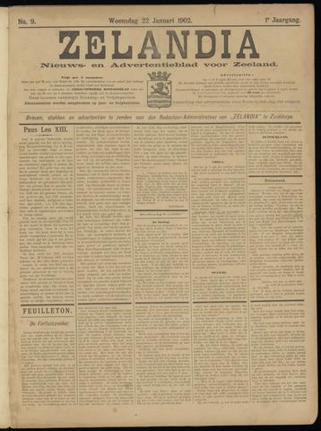 Zelandia. Nieuws-en advertentieblad voor Zeeland | edities: Het Land van Hulst en De Vier Ambachten 1902-01-22