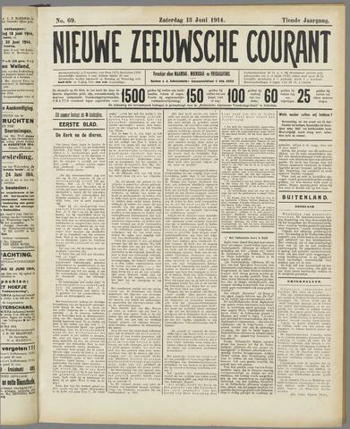 Nieuwe Zeeuwsche Courant 1914-06-13