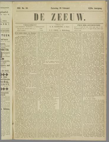De Zeeuw. Christelijk-historisch nieuwsblad voor Zeeland 1891-02-28