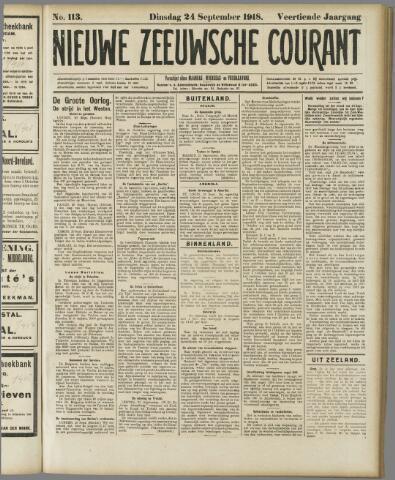 Nieuwe Zeeuwsche Courant 1918-09-24