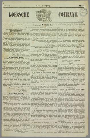 Goessche Courant 1857-02-09