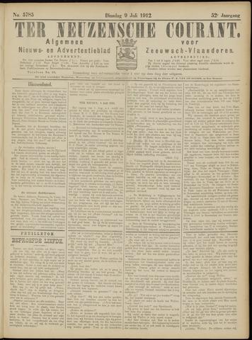 Ter Neuzensche Courant. Algemeen Nieuws- en Advertentieblad voor Zeeuwsch-Vlaanderen / Neuzensche Courant ... (idem) / (Algemeen) nieuws en advertentieblad voor Zeeuwsch-Vlaanderen 1912-07-09