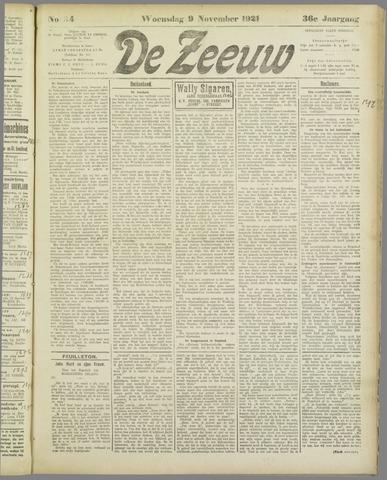 De Zeeuw. Christelijk-historisch nieuwsblad voor Zeeland 1921-11-09