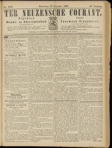 Ter Neuzensche Courant. Algemeen Nieuws- en Advertentieblad voor Zeeuwsch-Vlaanderen / Neuzensche Courant ... (idem) / (Algemeen) nieuws en advertentieblad voor Zeeuwsch-Vlaanderen 1905-11-23