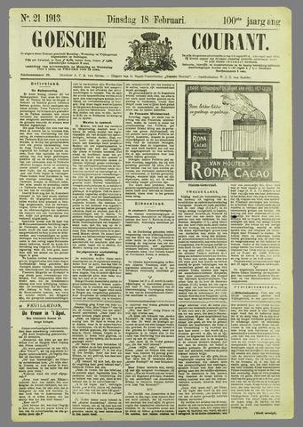 Goessche Courant 1913-02-18