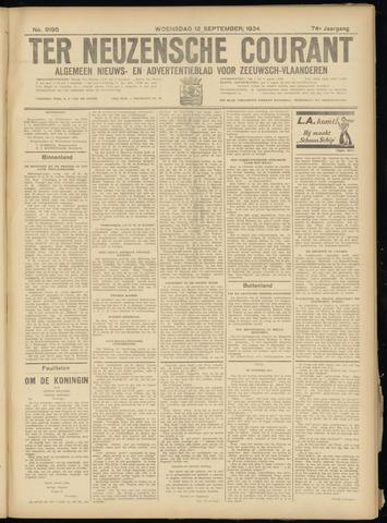 Ter Neuzensche Courant. Algemeen Nieuws- en Advertentieblad voor Zeeuwsch-Vlaanderen / Neuzensche Courant ... (idem) / (Algemeen) nieuws en advertentieblad voor Zeeuwsch-Vlaanderen 1934-09-12