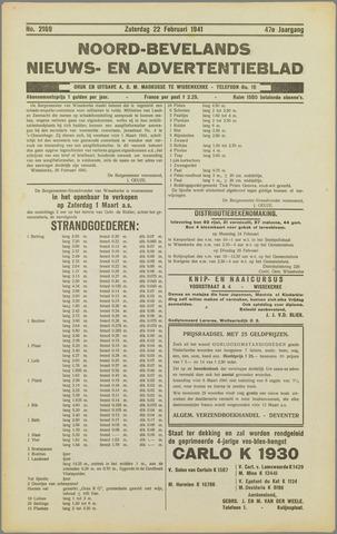 Noord-Bevelands Nieuws- en advertentieblad 1941-02-22