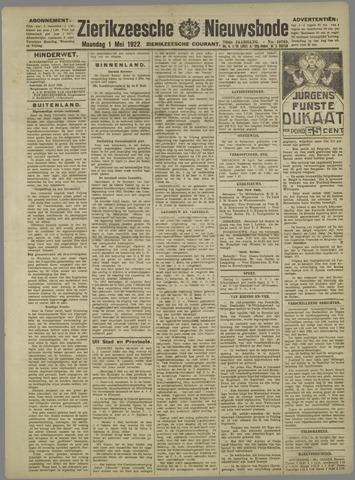 Zierikzeesche Nieuwsbode 1922-05-01