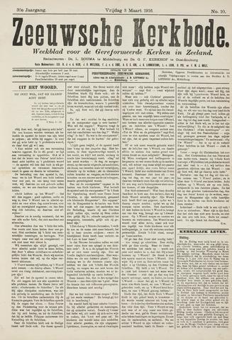 Zeeuwsche kerkbode, weekblad gewijd aan de belangen der gereformeerde kerken/ Zeeuwsch kerkblad 1916-03-03