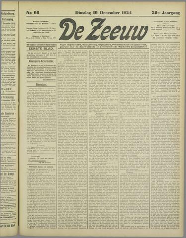 De Zeeuw. Christelijk-historisch nieuwsblad voor Zeeland 1924-12-16