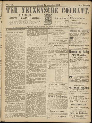 Ter Neuzensche Courant. Algemeen Nieuws- en Advertentieblad voor Zeeuwsch-Vlaanderen / Neuzensche Courant ... (idem) / (Algemeen) nieuws en advertentieblad voor Zeeuwsch-Vlaanderen 1901-09-17