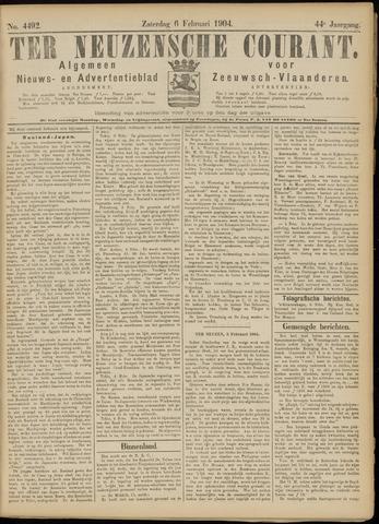 Ter Neuzensche Courant. Algemeen Nieuws- en Advertentieblad voor Zeeuwsch-Vlaanderen / Neuzensche Courant ... (idem) / (Algemeen) nieuws en advertentieblad voor Zeeuwsch-Vlaanderen 1904-02-06