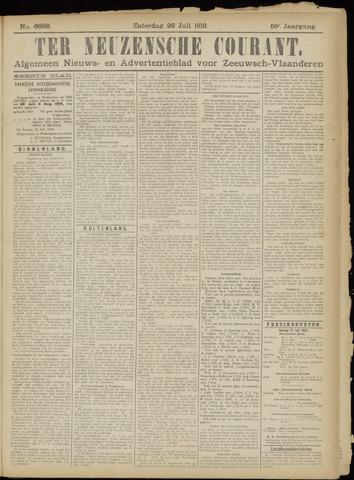 Ter Neuzensche Courant. Algemeen Nieuws- en Advertentieblad voor Zeeuwsch-Vlaanderen / Neuzensche Courant ... (idem) / (Algemeen) nieuws en advertentieblad voor Zeeuwsch-Vlaanderen 1919-07-26