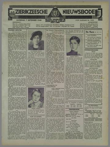 Zierikzeesche Nieuwsbode 1940-09-07