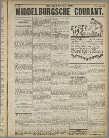 Middelburgsche Courant 1921-02-01