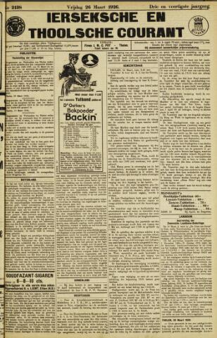 Ierseksche en Thoolsche Courant 1926-03-26