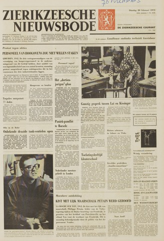 Zierikzeesche Nieuwsbode 1973-02-20