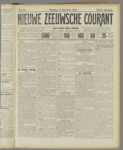 Nieuwe Zeeuwsche Courant 1914-09-21