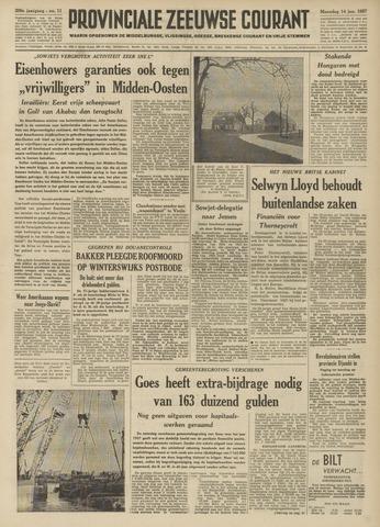 Provinciale Zeeuwse Courant 1957-01-14