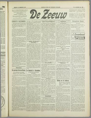 De Zeeuw. Christelijk-historisch nieuwsblad voor Zeeland 1937-08-10