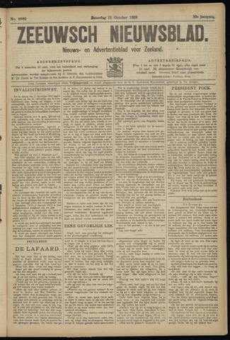 Ter Neuzensch Volksblad. Vrijzinnig nieuws- en advertentieblad voor Zeeuwsch- Vlaanderen / Zeeuwsch Nieuwsblad. Nieuws- en advertentieblad voor Zeeland 1919-10-11
