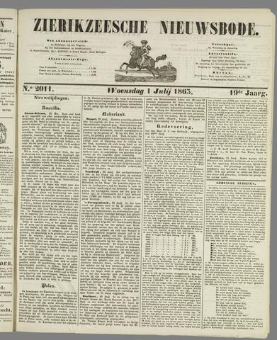 Zierikzeesche Nieuwsbode 1863-07-01