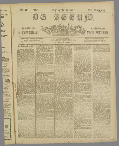 De Zeeuw. Christelijk-historisch nieuwsblad voor Zeeland 1912-01-12
