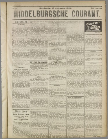 Middelburgsche Courant 1922-08-10
