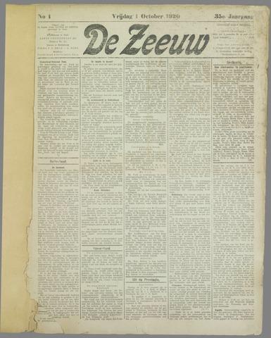 De Zeeuw. Christelijk-historisch nieuwsblad voor Zeeland 1920-10-01
