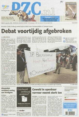 Provinciale Zeeuwse Courant 2009-09-04