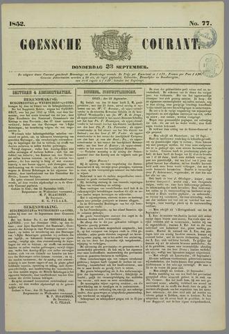 Goessche Courant 1852-09-23