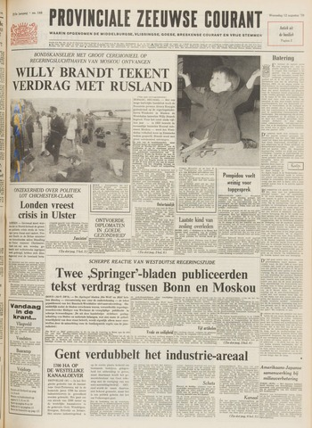Provinciale Zeeuwse Courant 1970-08-12