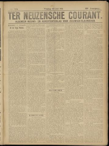 Ter Neuzensche Courant. Algemeen Nieuws- en Advertentieblad voor Zeeuwsch-Vlaanderen / Neuzensche Courant ... (idem) / (Algemeen) nieuws en advertentieblad voor Zeeuwsch-Vlaanderen 1921-07-22